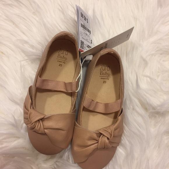 13714b20bdc6 Zara Kids Leather Flat Shoestoddler 7